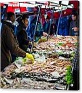 Venetian Fish Mongers Acrylic Print