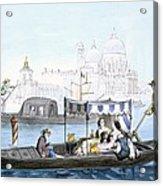 Venetian Gondola, From Vedute Dei Acrylic Print