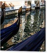 Venetian Gondolas Acrylic Print