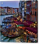 Venetian Grand Canal At Dusk Acrylic Print