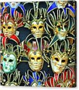 Venetian Opera Masks Acrylic Print