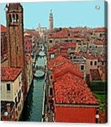 Venetian Street Scene Acrylic Print