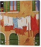 Venetian Washday Acrylic Print