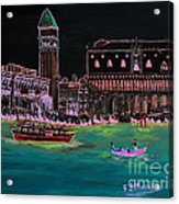 Venice At Night Acrylic Print