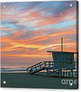 Venice Beach Lifeguard Station Sunset Acrylic Print