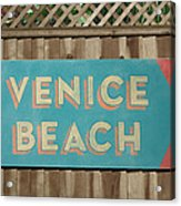 Venice Beach Sign Acrylic Print