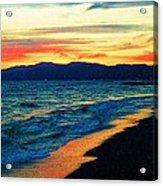 Venice Beach Sunset Acrylic Print