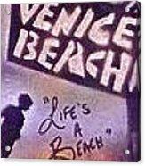 Venice Beach To Santa Monica Pier Acrylic Print by Tony B Conscious
