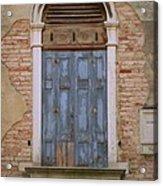 Venice Blue Arched Window Acrylic Print