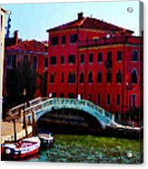 Venice Bow Bridge Acrylic Print