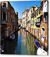 Venice Canal Acrylic Print by Bill Cannon
