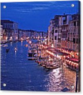 Venice - Canale Grande By Night Acrylic Print