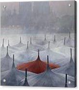 Venice In Rain Acrylic Print
