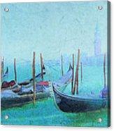 Venice Italy Gondolas With San Giorgio Maggiore Acrylic Print