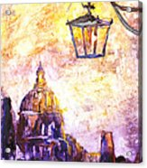 Venice Italy Watercolor Painting On Yupo Synthetic Paper Acrylic Print