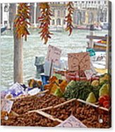 Venice Market Acrylic Print