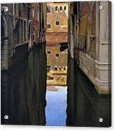 Venice Reflections - Pastel  Acrylic Print