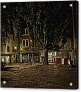 Venice Square At Night Acrylic Print