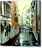 Venice Street Scene Acrylic Print