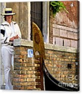 Venice Valet Acrylic Print