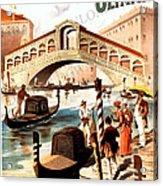 Venice Vintage Poster Acrylic Print
