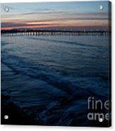 Ventura Pier Sunrise Acrylic Print by John Daly