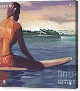 Ventura Surfer Girl Acrylic Print