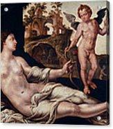 Venus And Amor Acrylic Print