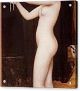 Venus Binding Her Hair Acrylic Print