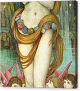 Venus Acrylic Print by John Roddam Spencer Stanhope