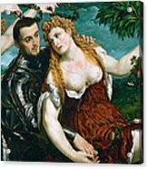 Venus Mars And Cupid Crowned By Victory Acrylic Print
