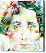 Vera Brittain - Watercolor Portrait Acrylic Print