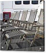 Verandah Seating 02 Queen Mary Ocean Liner Long Beach Ca Acrylic Print
