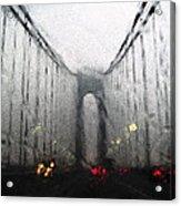 Verazanno Bridge Rain Photofresco Acrylic Print
