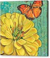 Verdigris Floral 2 Acrylic Print