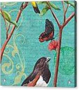 Verdigris Songbirds 2 Acrylic Print