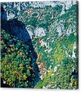 Verdon Gorge In Autumn Acrylic Print