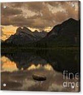 Vermillion Lake Sunset Acrylic Print