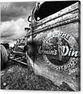 Vermin's Diner Rat Rod In Black And White Acrylic Print