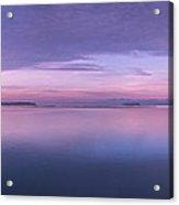Vermont Burlington Lake Champlain Panorama Sunrise Acrylic Print