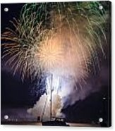 Vermont Fireworks Acrylic Print