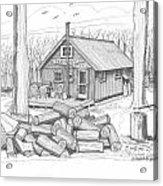 Vermont Hunter Lodge Acrylic Print