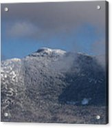 Vermont Mount Mansfield Winter Green Mountains Acrylic Print