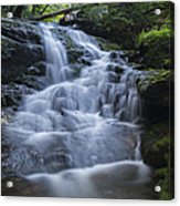 Vermont New England Waterfall Green Trees Forest Acrylic Print