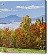 Vermont October Morning Acrylic Print