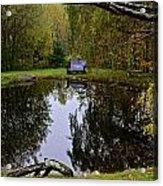 Vermont Pond In Autumn Acrylic Print
