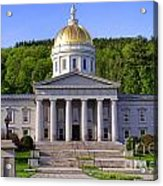 Vermont State Capitol In Montpelier  Acrylic Print