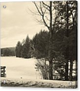 Vermont Winterland Acrylic Print