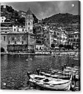 Vernazza - Cinque Terre In Grey Acrylic Print