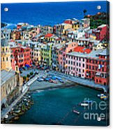 Vernazza Sera Acrylic Print